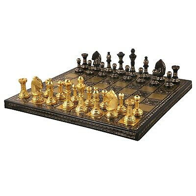 Brass Chess pieces set Bridled knight luxury Collector series King 3.75