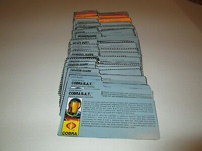 Gi Joe 1984 File Card Pick /& Choose each additional file card free shipping