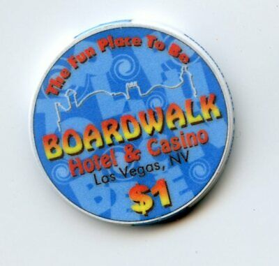 1.00 Casino Chip from the Boardwalk Casino Las Vegas Nevada Blue