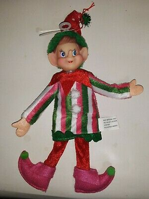 NWT ONE Fabric Elf Pixie Christmas Ornament U pick 3 styles to chose from