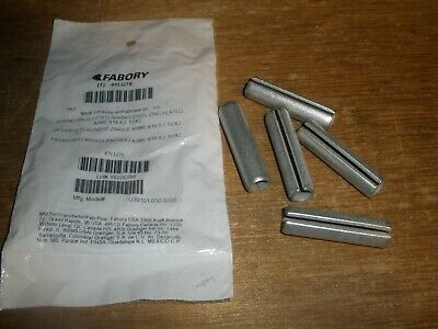 "(Qty.5) 1/2"" X 2"" Slotted Spring Pin Zinc Plated Steel"