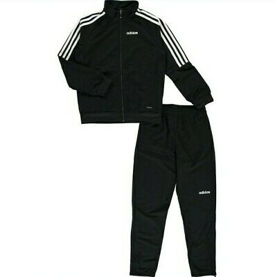 Adidas Originals Black 3 Stripe Trim Tracksuit Size Age 13 Years RRP £50