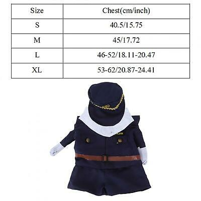 Polyester Cute Pet Halloween Clothes Upright Costume Dress Up For Cats Dogs