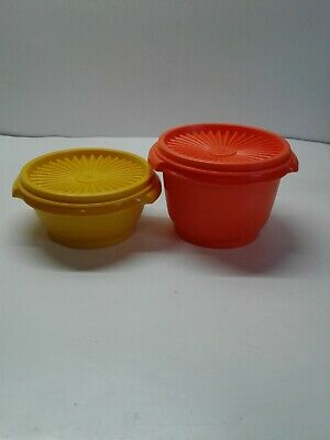 NEW WITHOUT PACKAGE VINTAGE TUPPERWARE 886 CLEAR 3PC BOWLS WITH LIDS