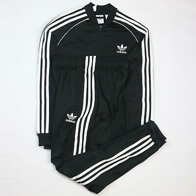Brand New Adidas Originals Superstar Junior Tracksuit Black Size 11-12 Years