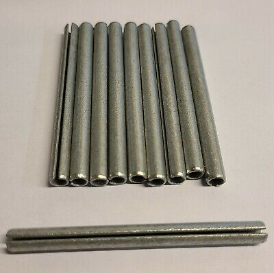 "Lot of 10 Pcs of 1/4"" x 3"" Slotted Spring Pin Zinc Plated"