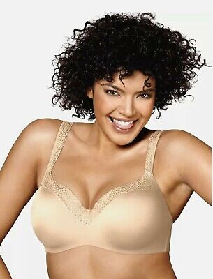 New Playtex Cream Love My Curves Lace Bra 42D 42DDD Style 4825 MSRP $42