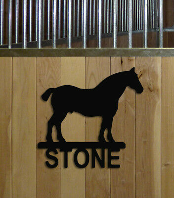 Draft Horse Stall Sign