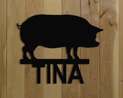 Pig Stall Sign