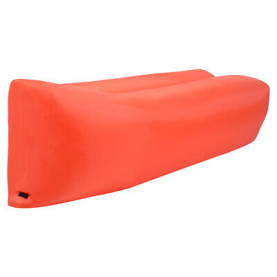 Portable Lazy Inflatable Sleeping Bed Lightweight Outdoor Camping Travel Orange