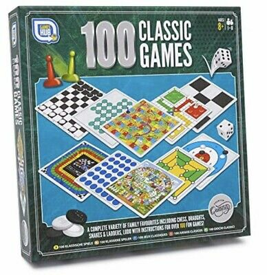 100 Classic Games Family Fun Traditional Board Games Premium Quality