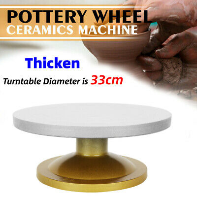 Stable and Smooth Rotation Sculpting Wheel for Art Clay Cakes Pottery Turntable Model-Making Turntable Manual Pottery Wheel 12inch Round Sculpting Wheel Stand Ceramics Pottery Tool