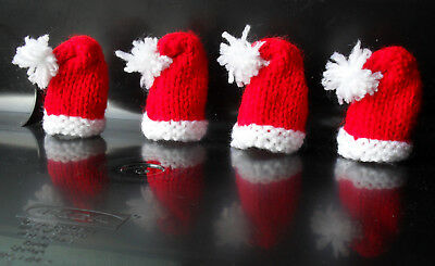 Bobble Hats Football Colours Set of 4 Hand Knitted Ferrero Rocher//Lindt Cosies