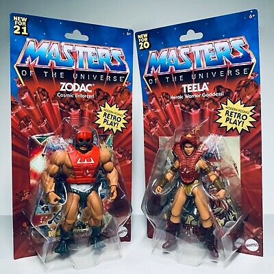 MASTERS OF THE UNIVERSE TEELA HEROIC WARRIOR GODDESS NEW OTHER BACKING IS BENT