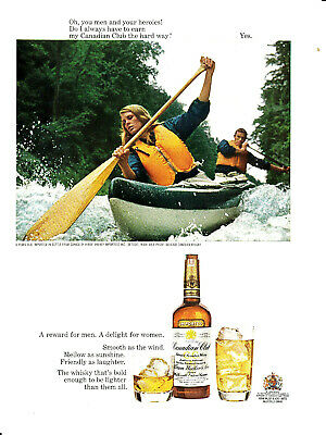 """Vtg 1967 Print Ad For Canadian Club-""""Do I Always Have To Earn [It] The Hard Way"""""""