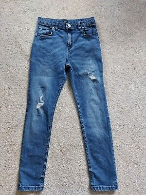 Boys River Island Jeans skinny 11years blue ripped smart casual vgc