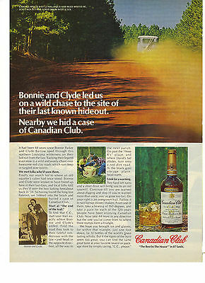 1978 Print Ad of Canadian Club Whisky Bonnie and Clyde Hidden Case Contest
