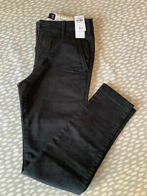 *NEW* Hollister Boys Men's Black Extreme Skinny Chino Jeans W28 L30 RRP £39