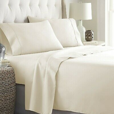 Superior Bedding Collection 1000 TC Egyptian Cotton Ivory Solid Select Size