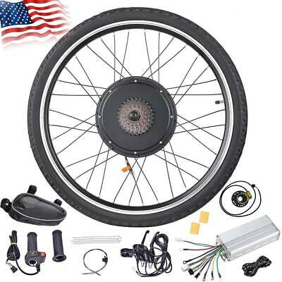"""48V 1000W/1500W Electric Bicycle EBike 26"""" Front Rear Wheel Motor Conversion Kit"""