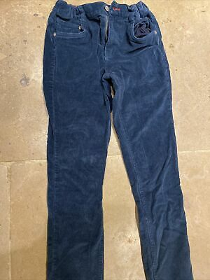Boys Petrol Blue Mini Boden Cord Trousers Siz 12 Years VGC