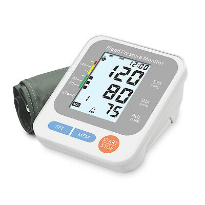 Auto Digital Upper Arm High Blood Pressure Monitor Pulse Meter BP Larger Cuff US