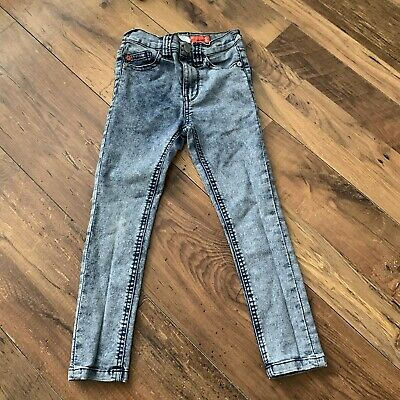 NEXT Boys Jeans Age 5 Denim Blue Spray On Skinny Stretchy Height 110cm