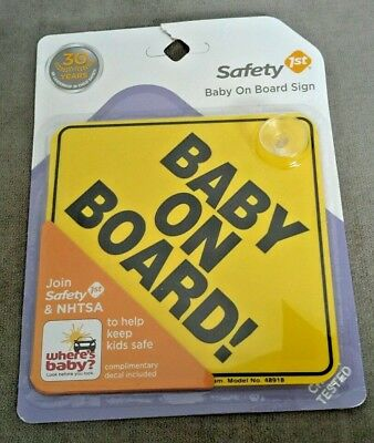 BABY ON BOARD Suction Cup Sign