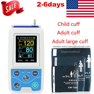 CONTEC US Ambulatory Blood Pressure Monitor+Software 24h NIBP Holter ABPM50 NEW