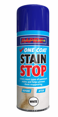 Rapide High Quality One Coat Stain Stop Spray Paint Cover & Prevent Stain 400 ML