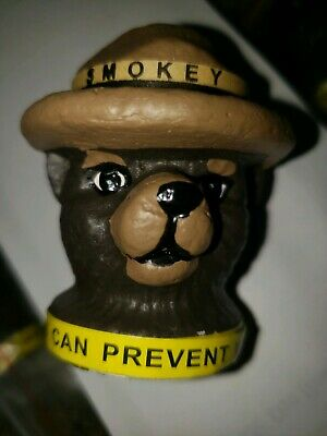 """10 """"Smokey Bear Head Topper Ornaments. Or Antenna Toppers. """""""
