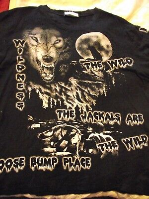 Lovely Boys Black Exclusive Wild Wildness Goose Bump Place T-Shirt Age 12