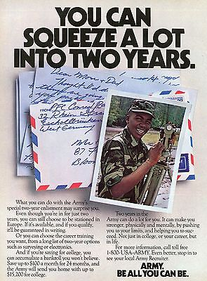 1984 Print Ad of US Army Recruiting You Can Squeeze A Lot Into Two Years
