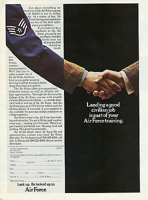 1975 Print Ad of US Air Force Landing A Good Job Is Part of Training Recruiting