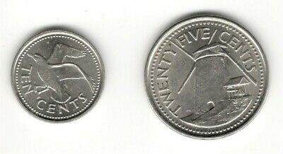 Barbados, 10+25 Cents 2011/ 16 (See Scan) #1251