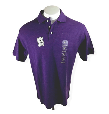 NWT Beverley Hills Polo Club Polo Tshirt purple small