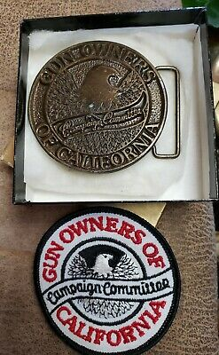 Gun Owners Of California Campaign Committee Belt Buckle Brass Manufacturer...
