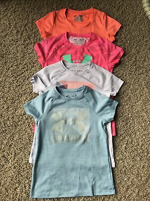 Girls Under Armour Youth Small Lot Of 4 T-shirts