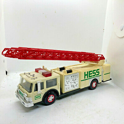 1989 Hess Fire Truck Bank with Dual Sound Siren Head & Tail Lights & Flashers