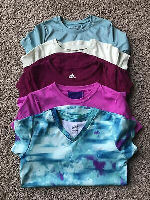 Youth Girls Lot Of 5 Tshirts  Under Armour, Adidas,Nike,Champion.Youth small 7/8