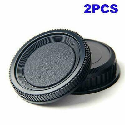 2X Plastic Rear Lens and Body Cap Cover For Pentax PK K Camera Y5Y4
