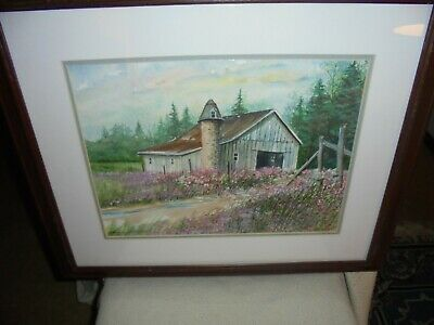 "Wisconsin Artist "" Steven W. Schultz "" Water Color Painting"