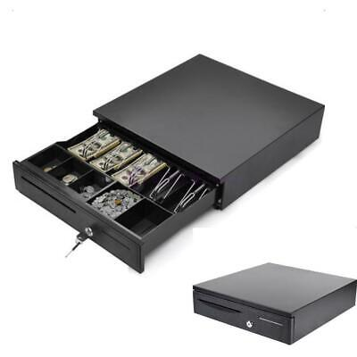 Cash Drawer Box 5 Bill 5 Coin Tray Compatible Works w/POS Printers Black