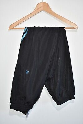 Youth Boys Adidas Black Blue Climalite Tracksuit Bottoms Trousers Pants 15-16 Y