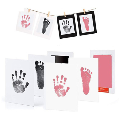 Safe Non-toxic Baby Footprints Handprint No Touch Skin Inkless Ink Pads Kits