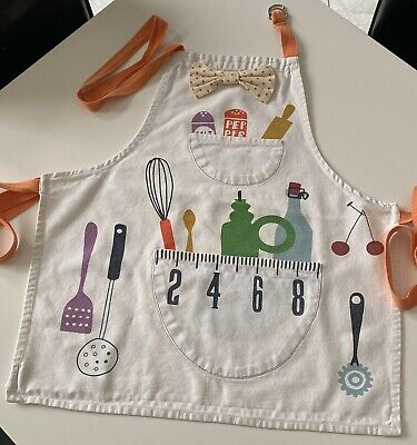 Jamie Oliver Jamie at Home Mini Chef's Apron Kids Apron Ages 4-9 Years