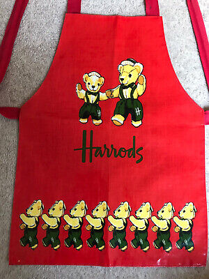 Vintage Original 1991 Harrods Bear Childrens Apron