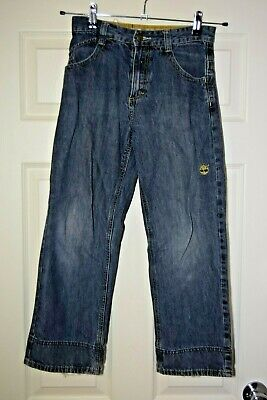 TIMBERLAND JEANS STONE WASHED BLUE LOOSE FIT BOOT CUT BOYS 10Yrs 140cm