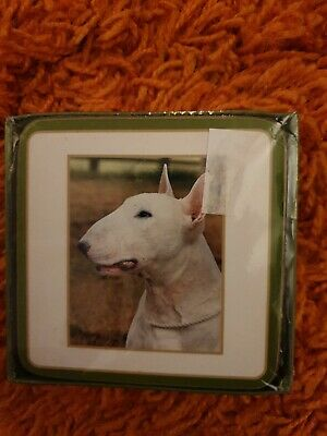Brand New 6 Classic Coasters English  Bull Terriers