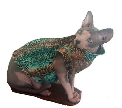 adult S/M LIZARD sweater coat top for a Sphynx cat - Sphynx cat clothes, Hotsphy